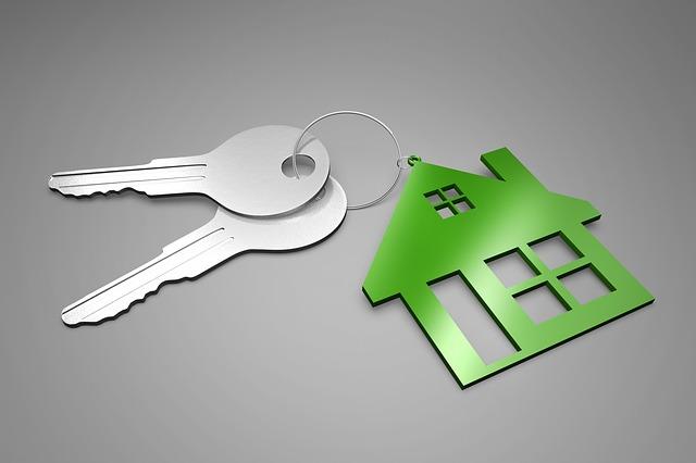 zelený domek, klíče