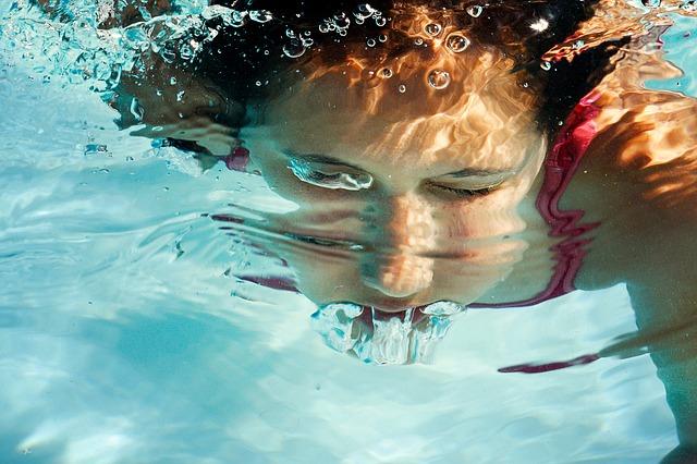 výdech pod vodou