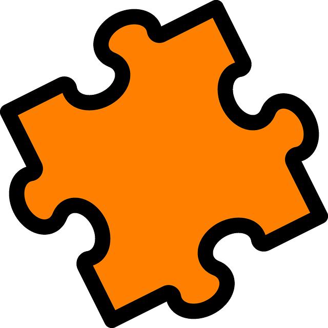 oranžový kus