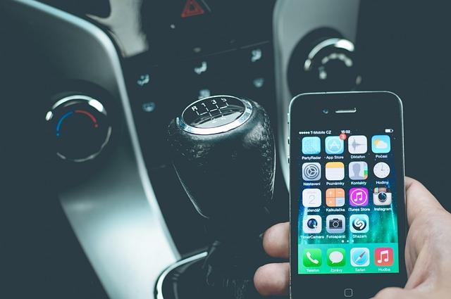 Mobilní Telefon Vozidlo