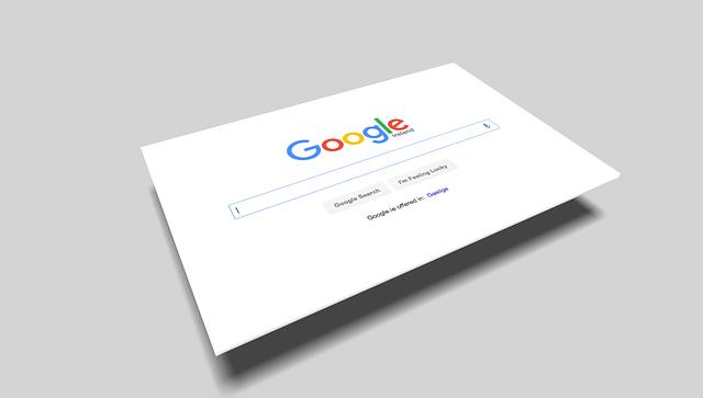 položená domovská stránka Google